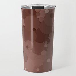 Cognac Bubble Dot Color Accent Travel Mug