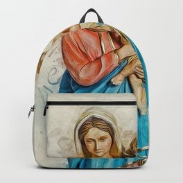 Virgin Mary And Jesus Backpack