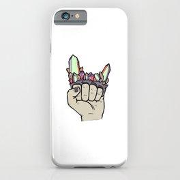 Crystal Brass Knuckles Chakra Healer Crystals Sage Gemstone iPhone Case