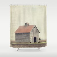 american beauty Shower Curtains featuring American Beauty Vol 14 by Farmhouse Chic