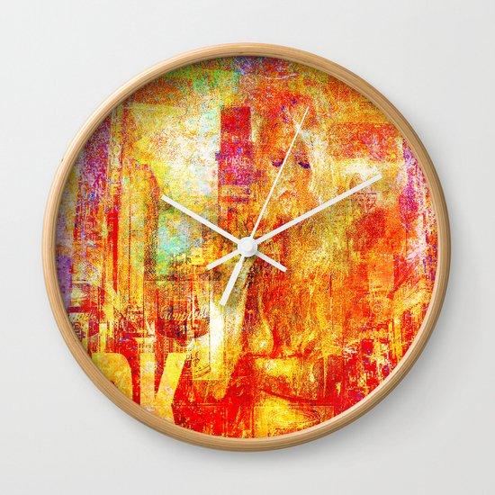 Girl in New-York  Wall Clock