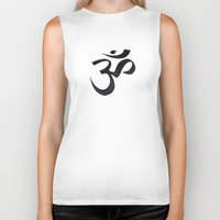 om Biker Tanks featuring OM by Vicinnitie