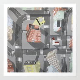 Pharmaville - urban living Art Print