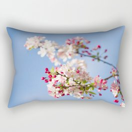 Crabapple blossoms Rectangular Pillow