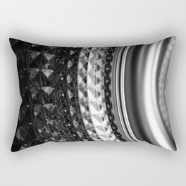 Shimmering textures of laundry machine drum -- Everyday art Rectangular Pillow