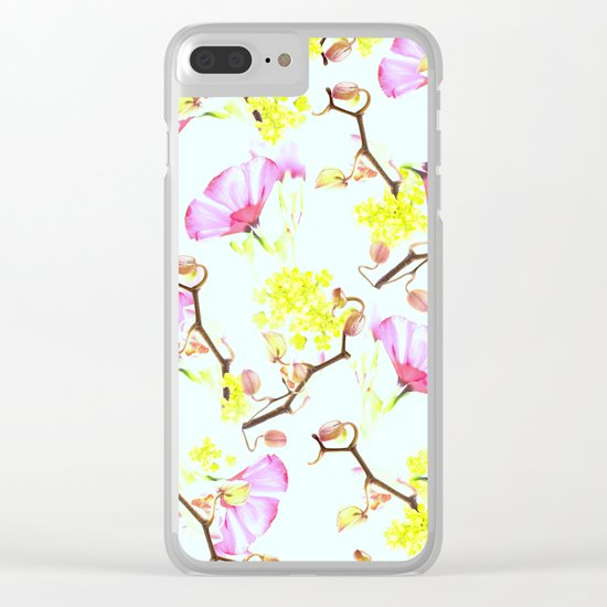 Spring flowers (floral) Clear iPhone Case