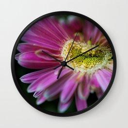 Happy Pink Wall Clock