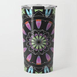 Mandala 13 with Blue Travel Mug