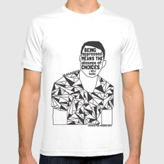 Freddie Gray - Black Lives Matter - Series - Black Voices MEDIUM Mens Fitted Tee White