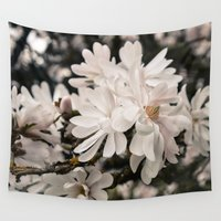 antique Wall Tapestries featuring Antique Magnolias by A Wandering Soul