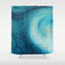 Soft Blues 3 Shower Curtain