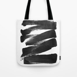 Black Brushstrokes Abstract Ink Painting Tote Bag