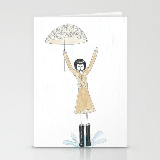 Puddle jumping Stationery Cards