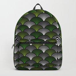 Art Deco Fans Green Backpack