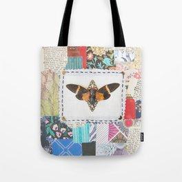 patchwork vintage cicada Tote Bag