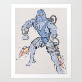 Comic Bad guy Art Print