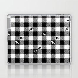 Black and White Checkered Animals Laptop & iPad Skin
