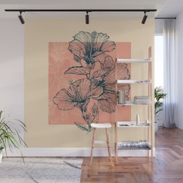 Hibiscus Colors Wall Mural