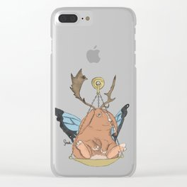Zodiacal Chimera: The Rabbit Clear iPhone Case