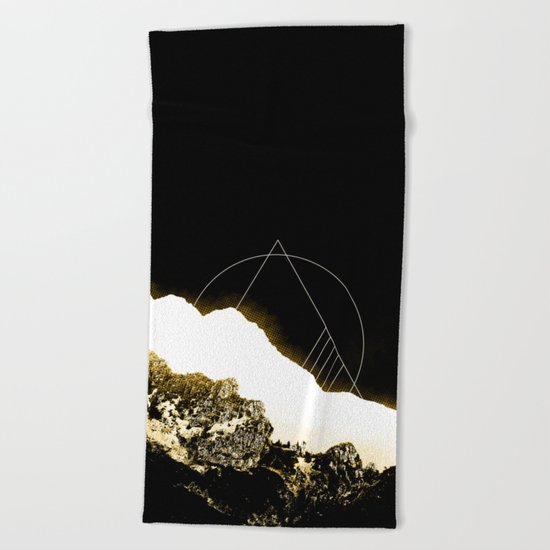Golden Mountain Beach Towel