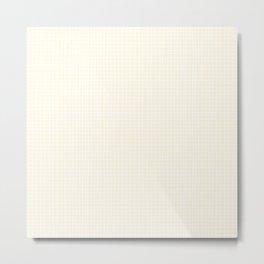 Vanilla Grid Metal Print