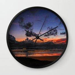 Beach Sunset - Painted Effect Wall Clock