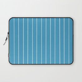 Blue with White Pinstripes Laptop Sleeve