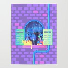 Windowsill Basking Poster