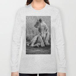 Pensive Lion Long Sleeve T-shirt