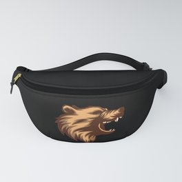 Angry Grizzly Bear Fanny Pack