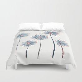 Five Fuzzy Flowers Duvet Cover