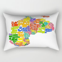 African Continent Cloud Map Rectangular Pillow