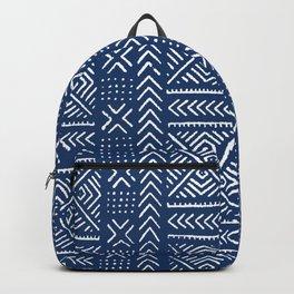 Line Mud Cloth // Dark Blue Backpack