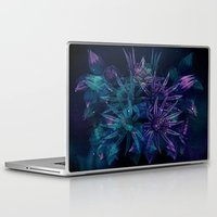 outer space Laptop & iPad Skins featuring Outer Space Flowers.. by Cherie DeBevoise