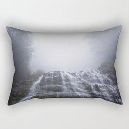 Morning Fog At Bridal Falls Rectangular Pillow