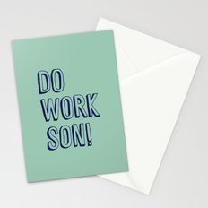 Do Work Son Stationery Cards