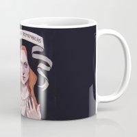 sansa stark Mugs featuring Sansa by Sara Meseguer