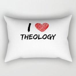 I Love Theology Rectangular Pillow