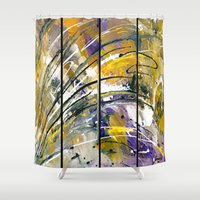 kandinsky Shower Curtains featuring Abstract 26 by Har8