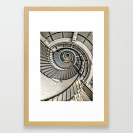Spiral Staircase, Ponce Inlet Lighthouse, Florida Framed Art Print