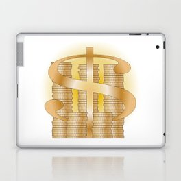 Piles of Coins Laptop & iPad Skin