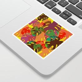multicolored monstera Sticker