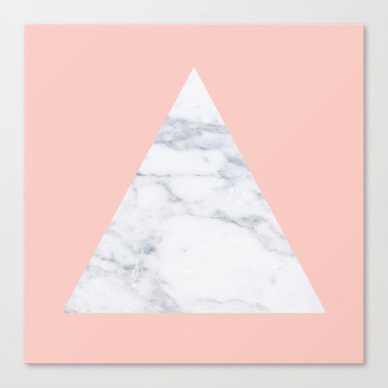 Blush marble triangle Canvas Print