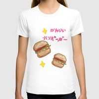 hamburger T-shirts featuring kawaii hamburger by zygodactylous