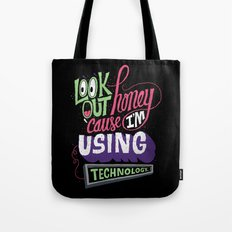 Using Technology Tote Bag