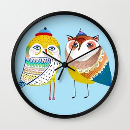 Owl friends. Wall Clock