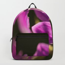Purple flowers glow in forest #decor #buyart #society6 Backpack