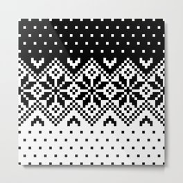 Black & White Pattern Metal Print