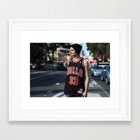 phil jones Framed Art Prints featuring Phil by Georgia Verrells