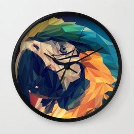 Parrot Head Illustration (Vector) Wall Clock
